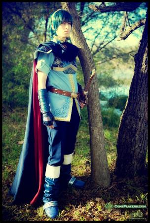 Marth from Super Smash Bros. worn by Pikmin Link