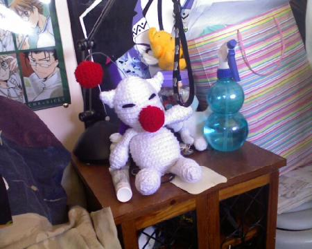 Moogle from Final Fantasy worn by Anime Angel Blue