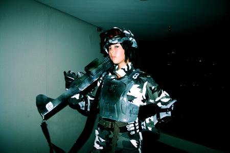 Soldier from Battlefield 2142 worn by Monika Lee