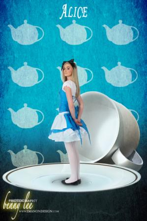 Alice from Alice in Wonderland worn by Monika Lee