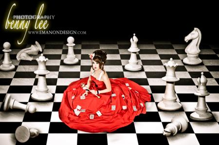 Queen of Hearts from Alice in Wonderland worn by Monika Lee
