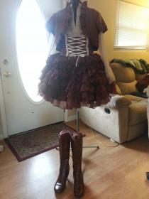 Brown Chiffon Lolita Ensemble from Original Design worn by MadMadamMim
