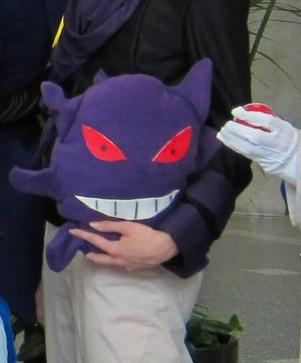 Gengar from Pokemon worn by Bur Loire