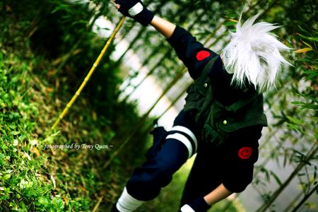 Kakashi Hatake from Naruto worn by Silver Ruby