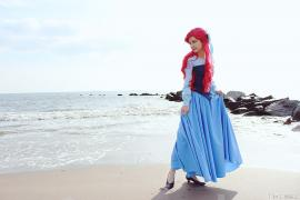 Ariel from Little Mermaid worn by Bluucircles