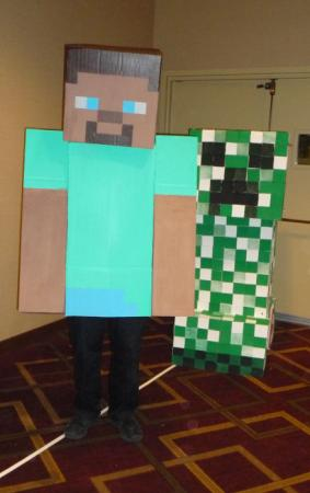 Creeper from Minecraft worn by CelesMaxwell