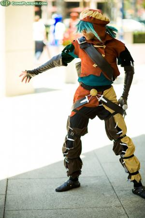 Azure Kite from .hack//GU worn by Maguma