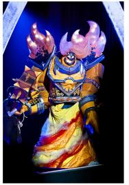 Ragnaros from World of Warcraft worn by Fireshark