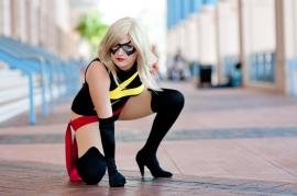 Ms. Marvel from Marvel Comics worn by navigated