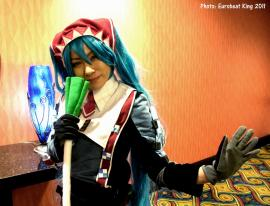 Hatsune Miku from Vocaloid 2 worn by Mikarin
