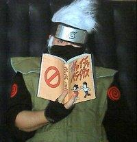 Kakashi Hatake from Naruto worn by Captain Wakusei Prince