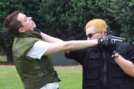 Albert Wesker from Resident Evil worn by Captain Wakusei Prince
