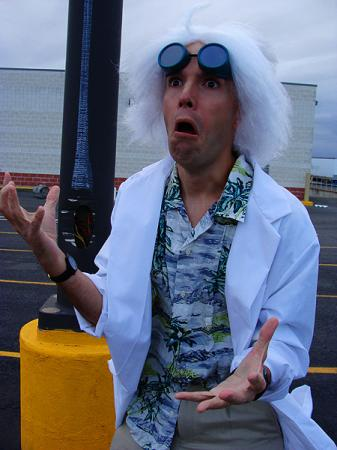 Emmett Lathrop (Doc) Brown Ph.D. from Back to the Future worn by Flexei