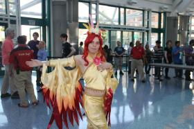 Moltres from Pokemon worn by Livengood