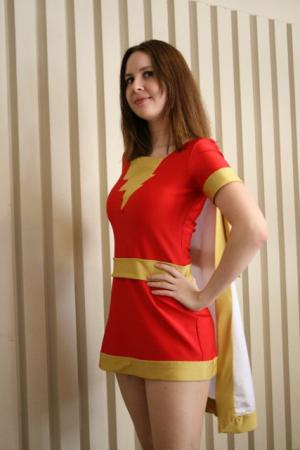 Mary Marvel from DC Comics worn by twinklebat