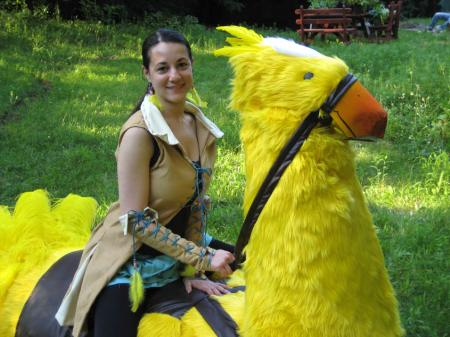 Chinako & Blaze the Chocobo from Final Fantasy X worn by Chinako