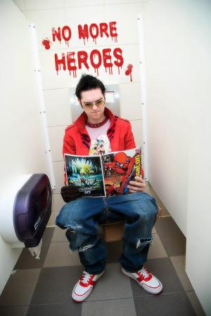 Travis Touchdown from No More Heroes worn by Brian