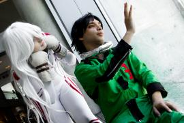 Ganta from Deadman Wonderland worn by defective naruto