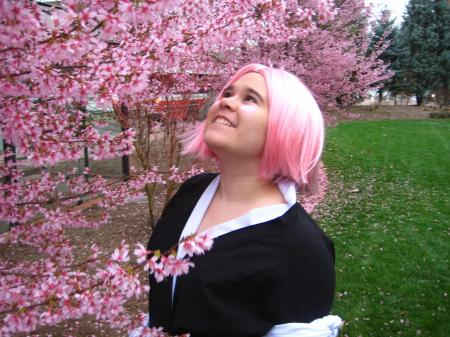 Yachiru Kusajishi from Bleach worn by Tasogare-Taichou
