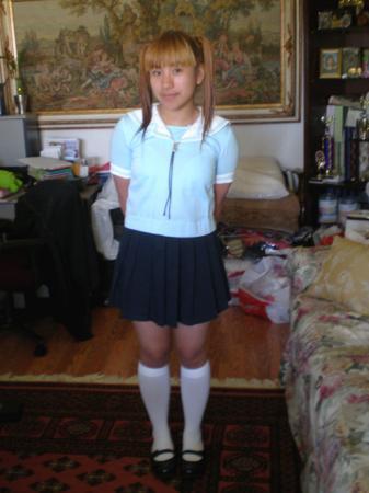 Chiyo Mihama from Azumanga Daioh worn by Janelle Ann