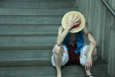 Monkey D. Luffy from One Piece worn by Zal