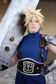 Cloud Strife from Final Fantasy VII worn by Lyn Hargreaves
