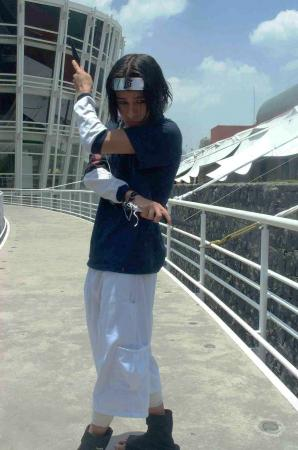 Sasuke Uchiha from Naruto worn by Angel Super Star Dimensional Warrior