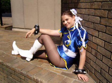 Chun Li from Street Fighter II worn by Leah