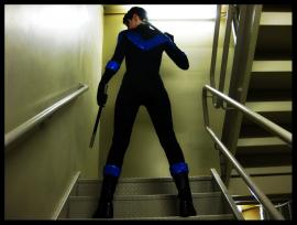 Nightwing from Batman worn by Sailor Anime