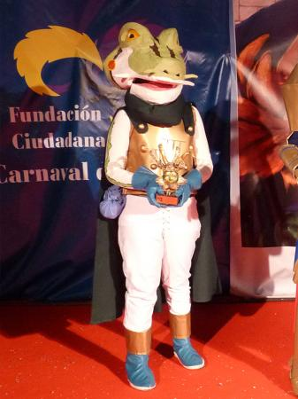 Frog from Chrono Trigger worn by Lulu Miyazawa