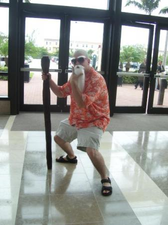 Master Roshi from Dragonball worn by Gentleman