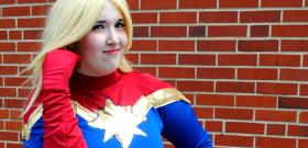 Captain Marvel from Marvel Comics worn by Yucari
