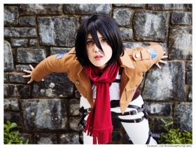 Mikasa Ackerman from Attack on Titan worn by VintageAerith
