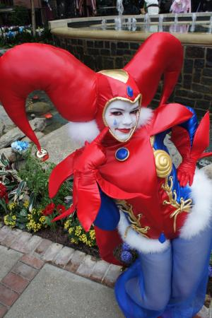 Harlequin from Chrono Cross worn by Dust Bunny