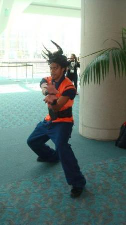 Goku from Dragonball worn by Black Gokou