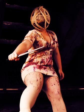 Bubblehead Nurse from Silent Hill worn by Chen