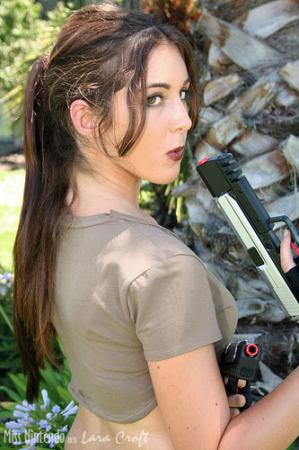 Lara Croft from Tomb Raider worn by Miss Nintendo