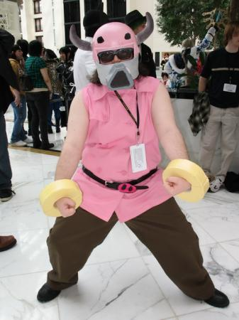 Fierce Pork Trooper from Earthbound / Mother 3 worn by Bearpigman