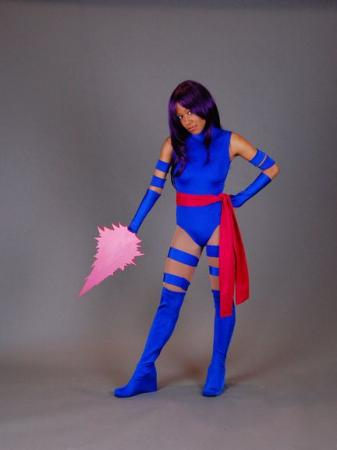 Psylocke from X-Men worn by Blikku