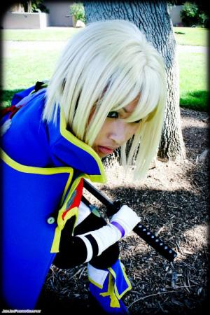 Jin Kisaragi from BlazBlue: Calamity Trigger worn by Akii
