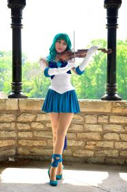 Sailor Neptune from Sailor Moon worn by Momo Kurumi