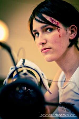 Chell from Portal 2 worn by Kat326
