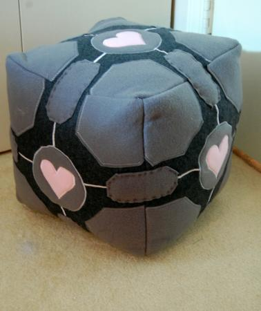 Weighted Companion Cube from Portal worn by RedKat