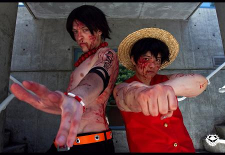 Monkey D. Luffy from One Piece worn by Rai Kamishiro