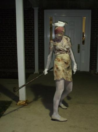 Bubble Head Nurse from Silent Hill 2 worn by Leaf