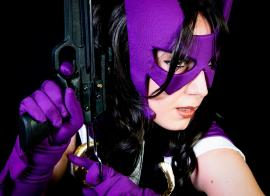 Huntress from Batman worn by Neferet Ichigo