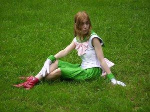 Sailor Jupiter from Sailor Moon worn by Rachel