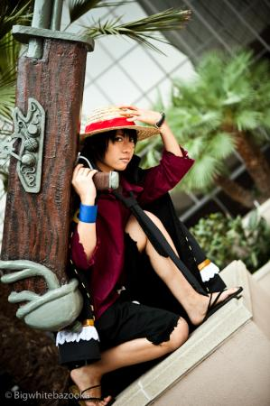 Monkey D. Luffy from One Piece worn by Jo Luffiro Sauce