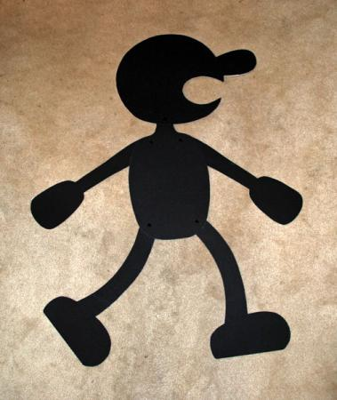 Mr. Game & Watch from Super Smash Bros. worn by Phavorianne