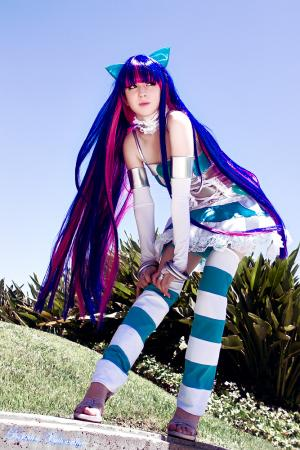 Stocking from Panty and Stocking with Garterbelt worn by electric lady